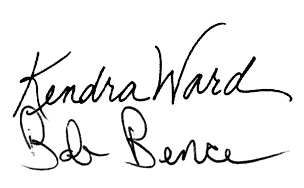 Kendra Ward and Bob Bence signatures